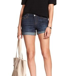 Banana Republic Blue factory denim cuff shorts 2